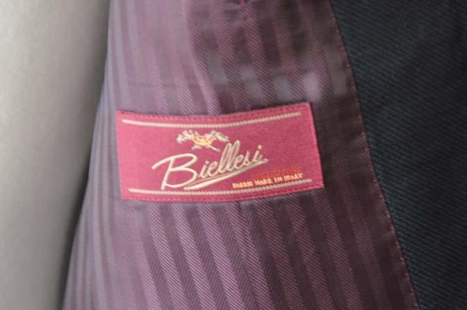 DSC2896-1 お客様のスーツの紹介- Biellesi ネイビーバーズアイ-