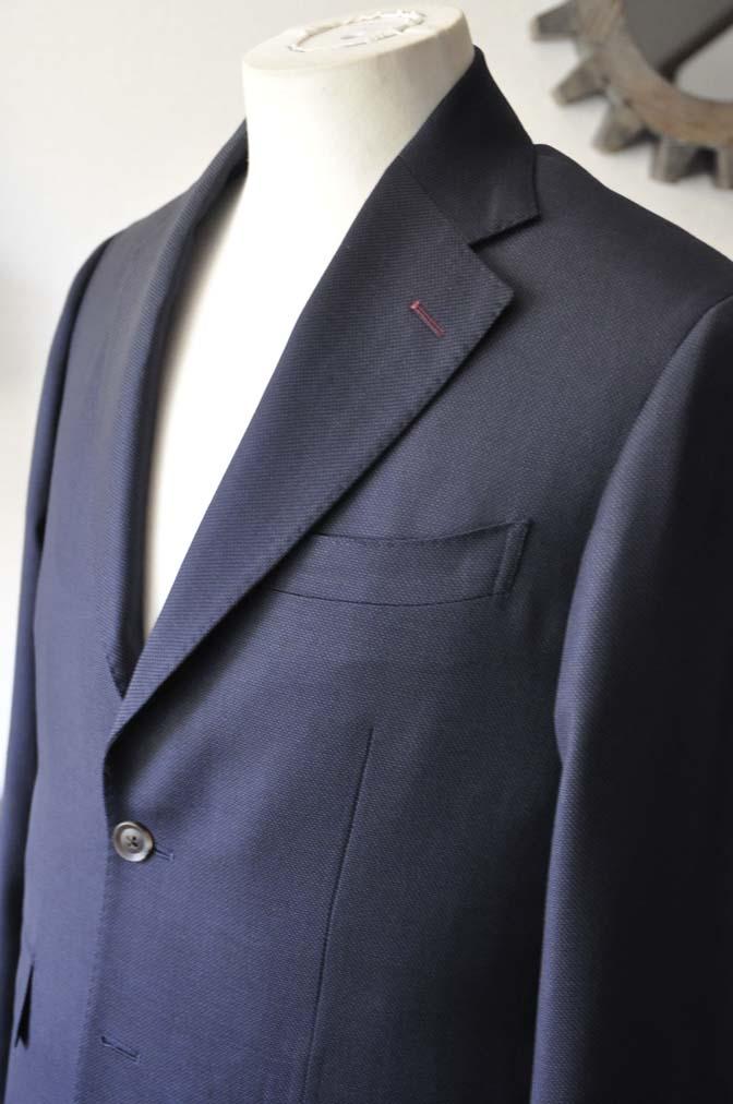 DSC2897-1 お客様のスーツの紹介- Biellesi ネイビーバーズアイ-