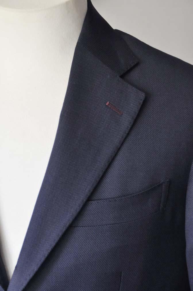 DSC2898 お客様のスーツの紹介- Biellesi ネイビーバーズアイ-