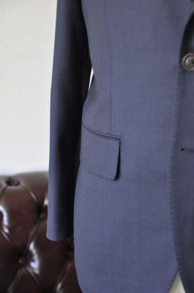 DSC2901 お客様のスーツの紹介- Biellesi ネイビーバーズアイ-