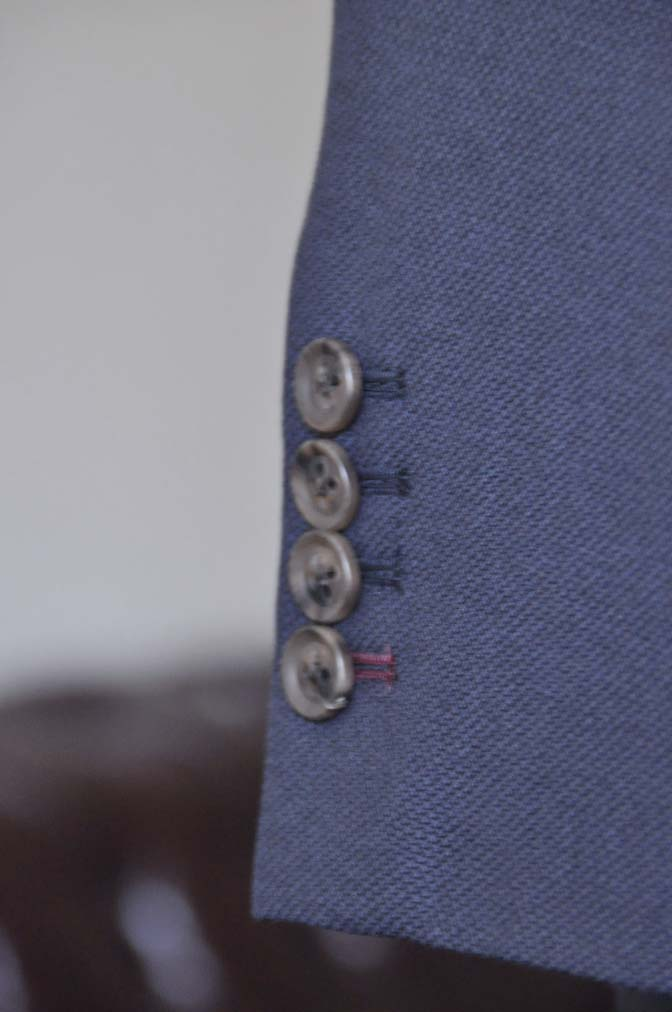 DSC2902 お客様のスーツの紹介- Biellesi ネイビーバーズアイ-