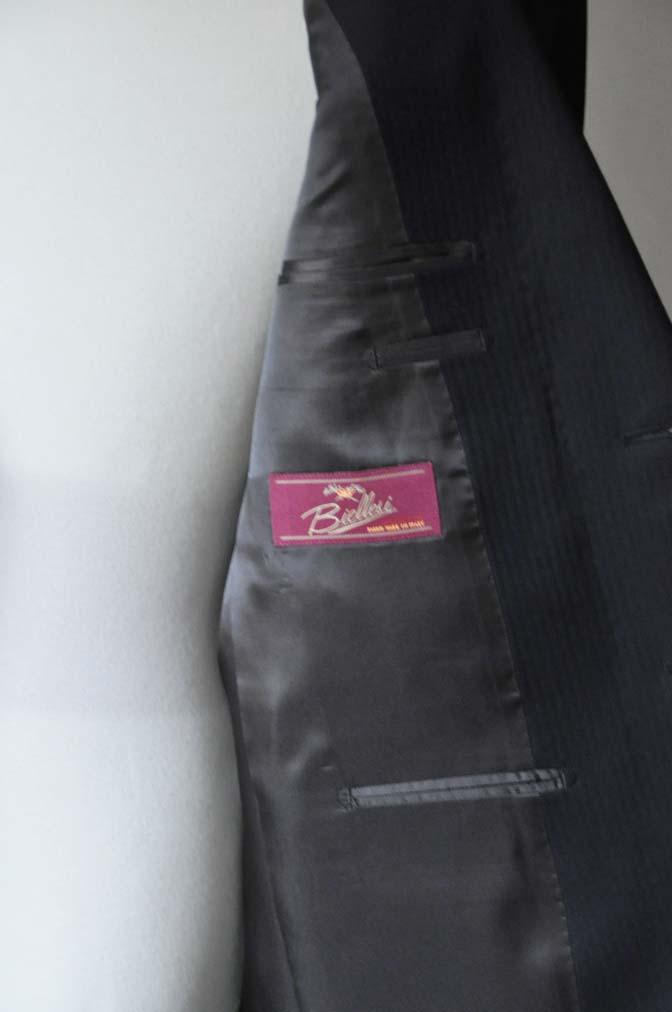 DSC2907 お客様のスーツの紹介- Biellesi ブラックヘリンボーンスーツ-