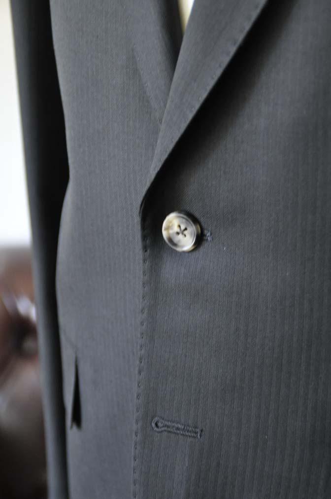 DSC2913 お客様のスーツの紹介- Biellesi ブラックヘリンボーンスーツ-