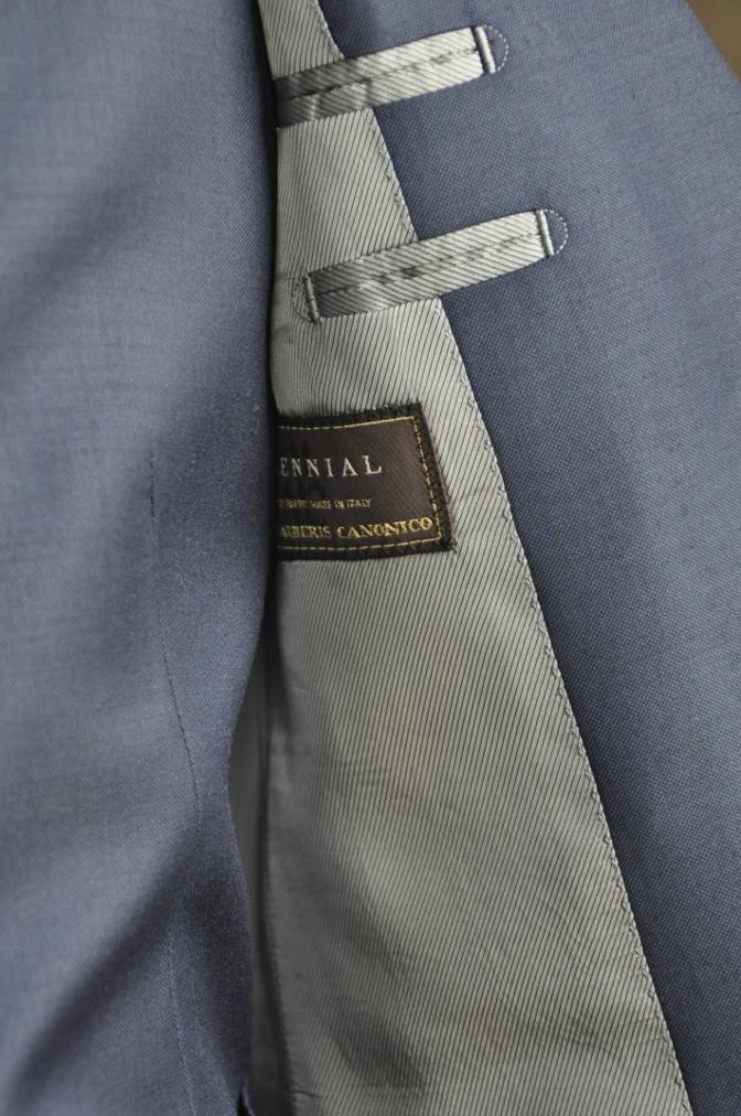 DSC2949 お客様のスーツの紹介-CANONICO 無地ネイビースリーピース-