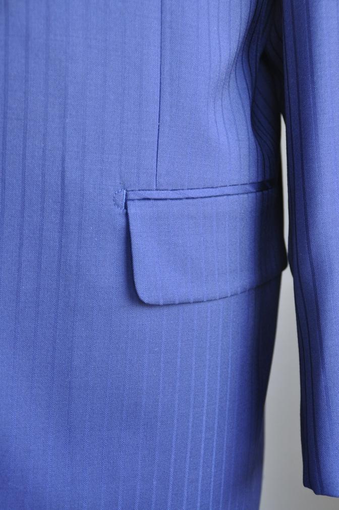DSC2994 お客様のスーツの紹介-BIELLESIネイビーストライプ-