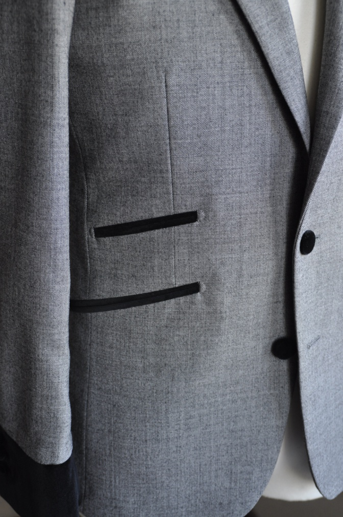 DSC3015 お客様のジャケットの紹介-グレー エドワードジャケット-