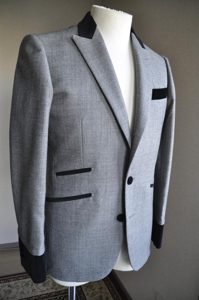 DSC3018 お客様のジャケットの紹介-グレー エドワードジャケット-