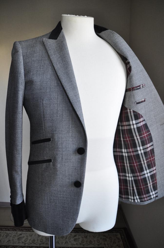 DSC3035 お客様のジャケットの紹介-グレー エドワードジャケット-