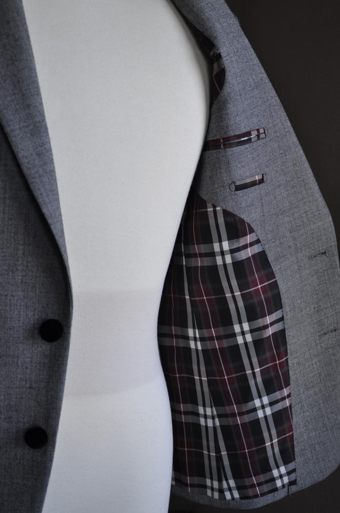 DSC3036 お客様のジャケットの紹介-グレー エドワードジャケット-