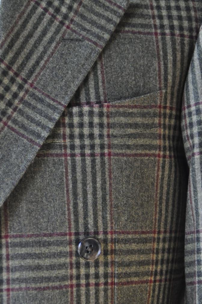 DSC3153 お客様のスーツの紹介-TALLIA DI DELFINO グリーンチェックダブルスーツ-