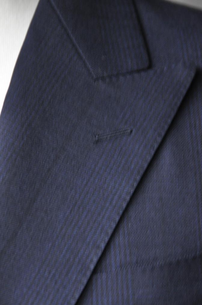 DSC31531 お客様のスーツの紹介-DARROW DALE ネイビーグレンチェック-