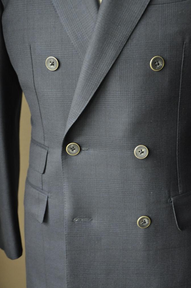 DSC3156 お客様のスーツの紹介-DARROW DALE ネイビーグレンチェック-