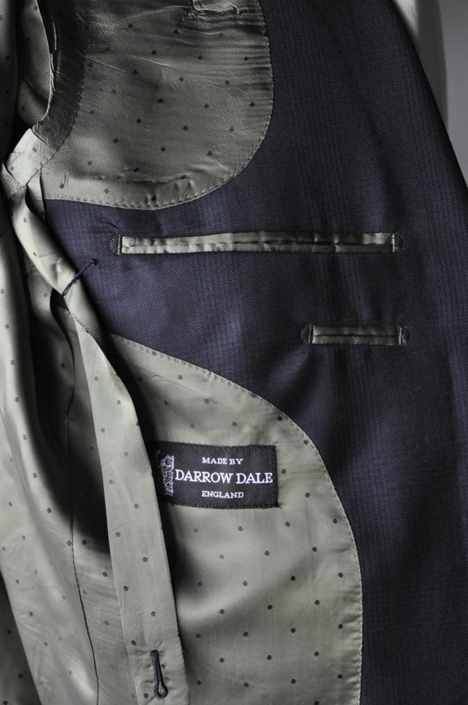 DSC31611 お客様のスーツの紹介-DARROW DALE ネイビーグレンチェック-