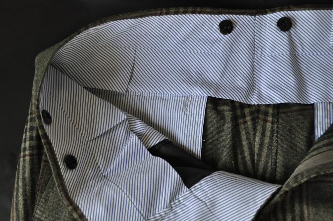 DSC3166 お客様のスーツの紹介-TALLIA DI DELFINO グリーンチェックダブルスーツ-