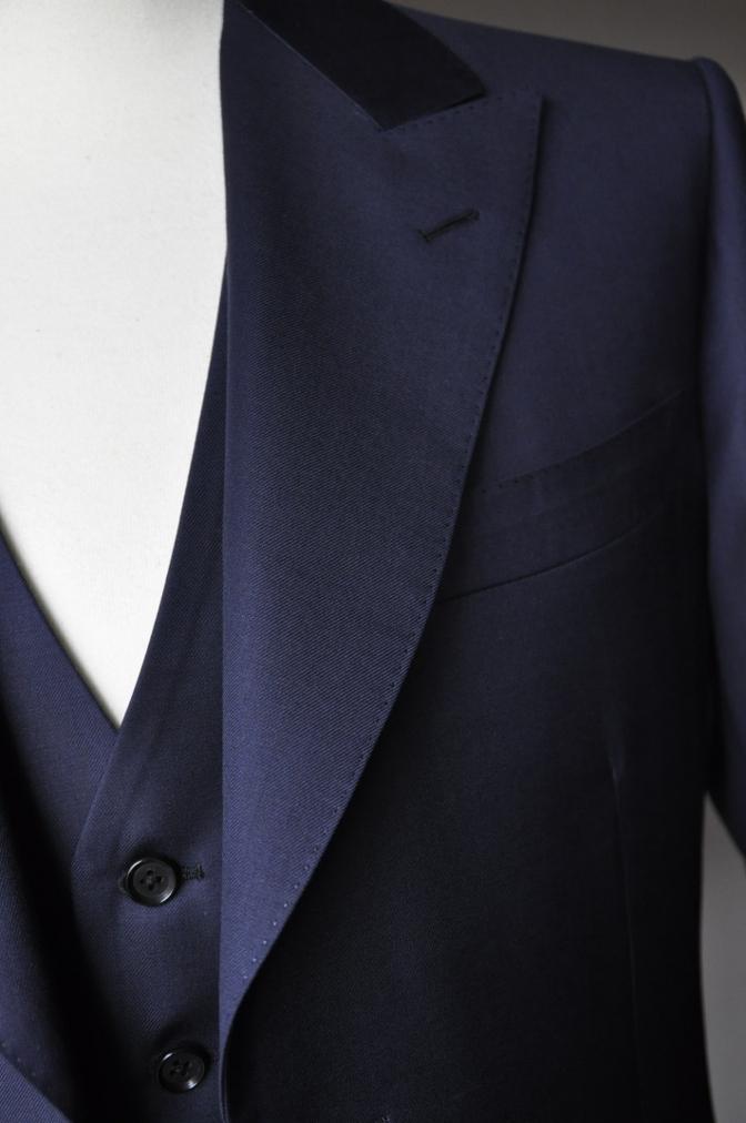 DSC3173 お客様のスーツの紹介-TALLIA  DI  DELFINO ネイビースリーピース-