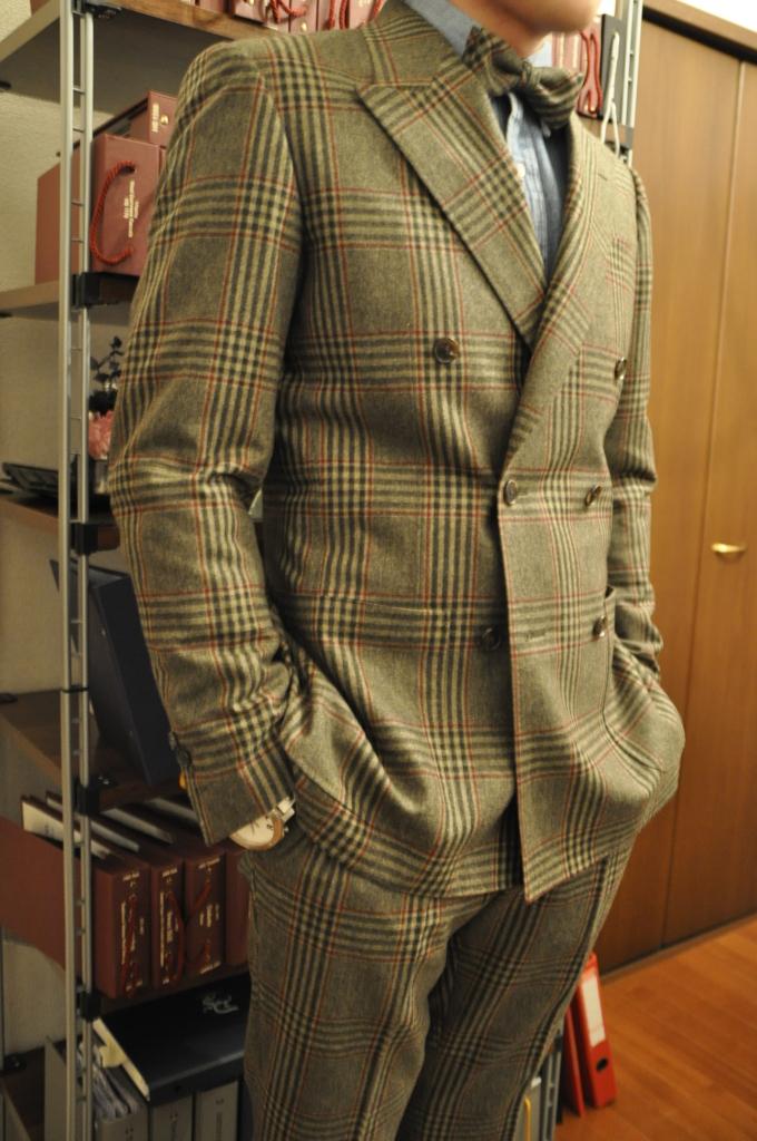 DSC3182-680x1024 お客様のスーツの紹介-TALLIA DI DELFINO グリーンチェックダブルスーツ-