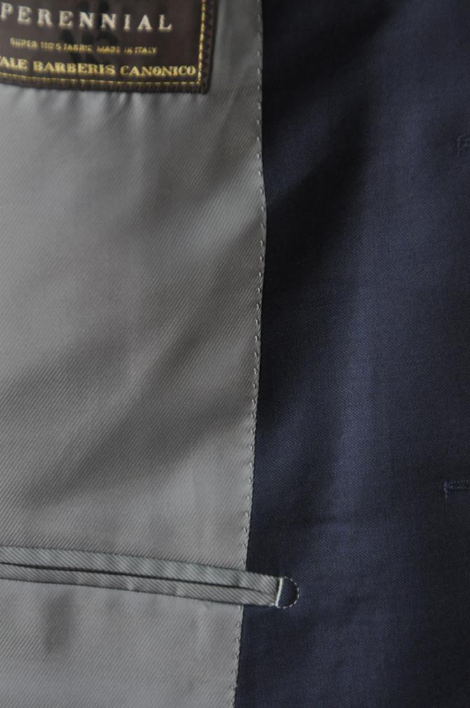 DSC3234 お客様のスーツの紹介-CANONICO 無地ネイビースーツ-