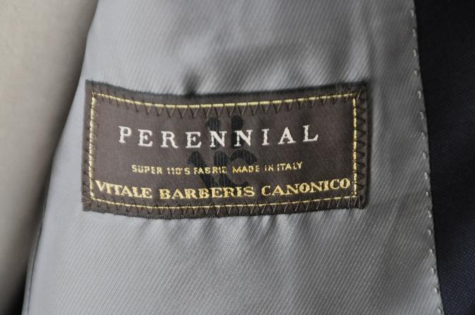 DSC32351 お客様のスーツの紹介-CANONICO 無地ネイビースーツ-