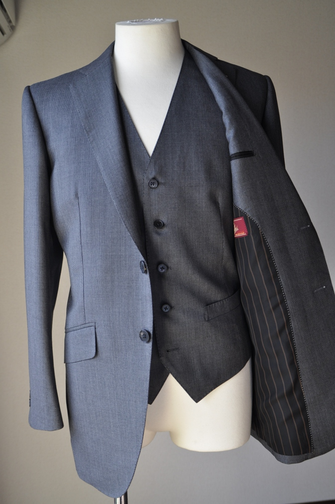 DSC3259 お客様のスーツの紹介-BIELLESI グレーバーズアイ-