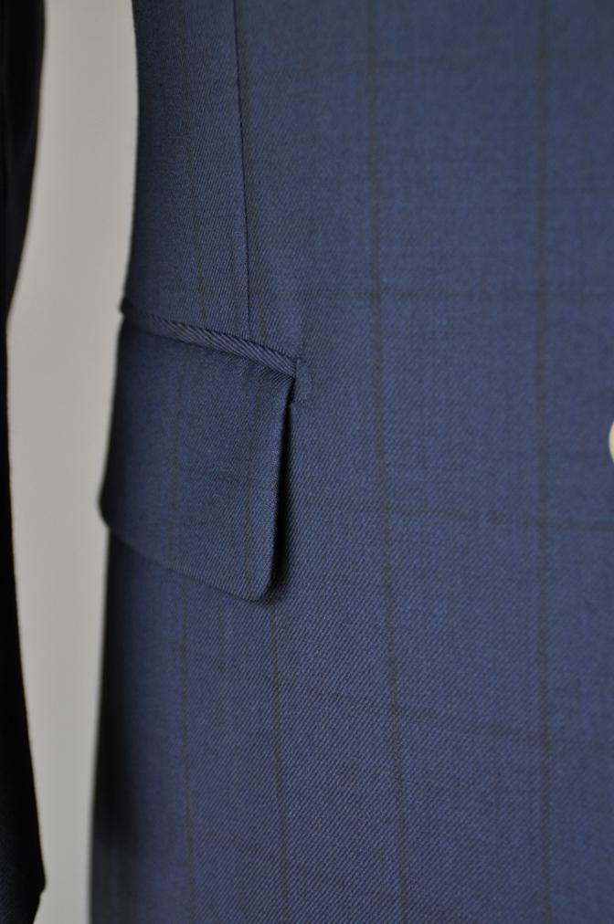 DSC3267 お客様のスーツの紹介-DARROW DALEネイビーウィンドペーンスリーピース-