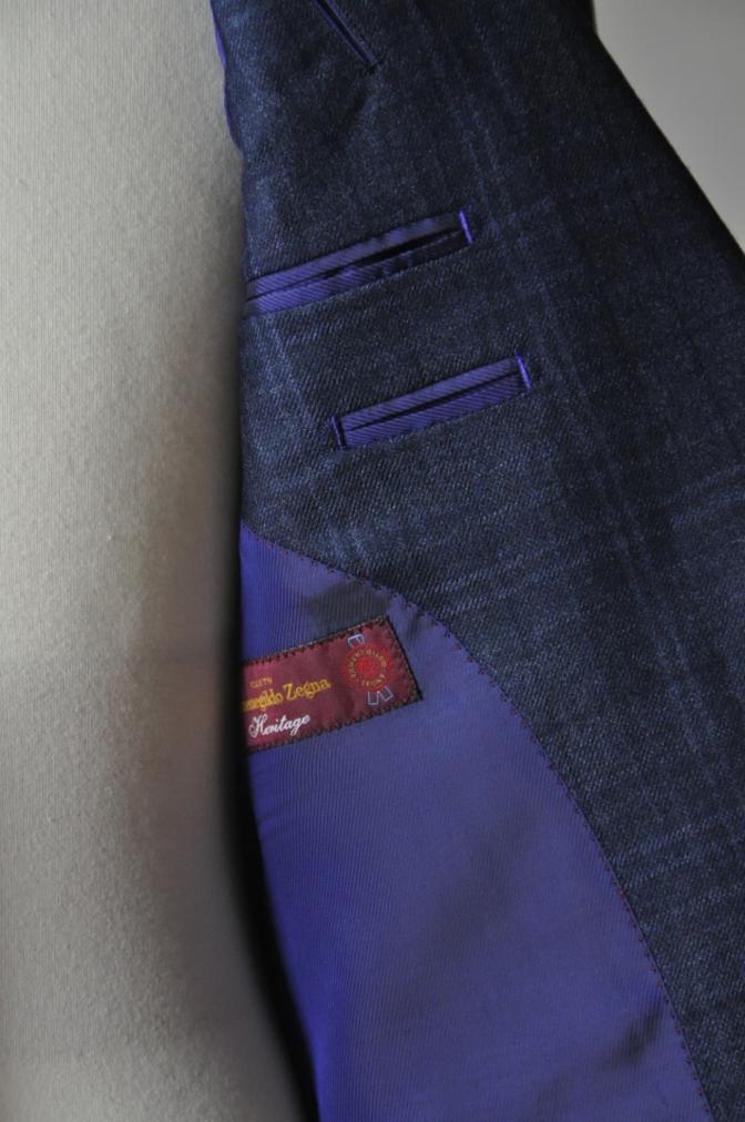 DSC3298 お客様のスーツの紹介-Ermenegild Zegna/Heritage ゼニア/ヘリテージ ネイビーチェック-