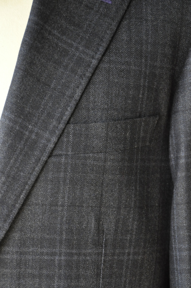 DSC3301 お客様のスーツの紹介-Ermenegild Zegna/Heritage ゼニア/ヘリテージ ネイビーチェック-