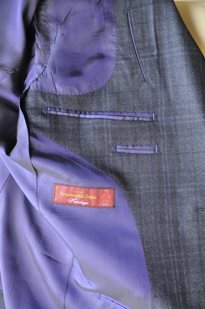 DSC3310 お客様のスーツの紹介-Ermenegild Zegna/Heritage ゼニア/ヘリテージ ネイビーチェック-