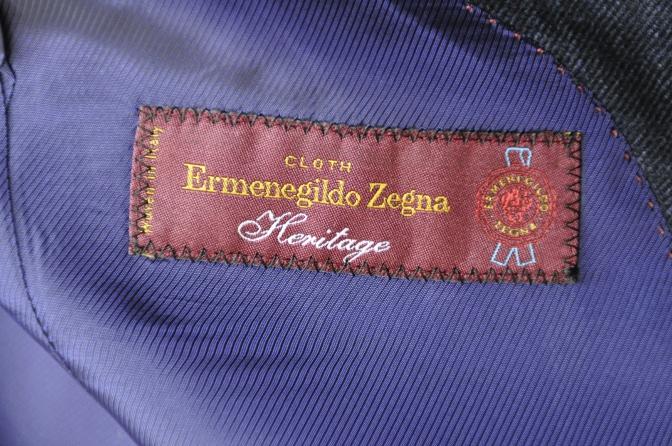 DSC3311 お客様のスーツの紹介-Ermenegild Zegna/Heritage ゼニア/ヘリテージ ネイビーチェック-