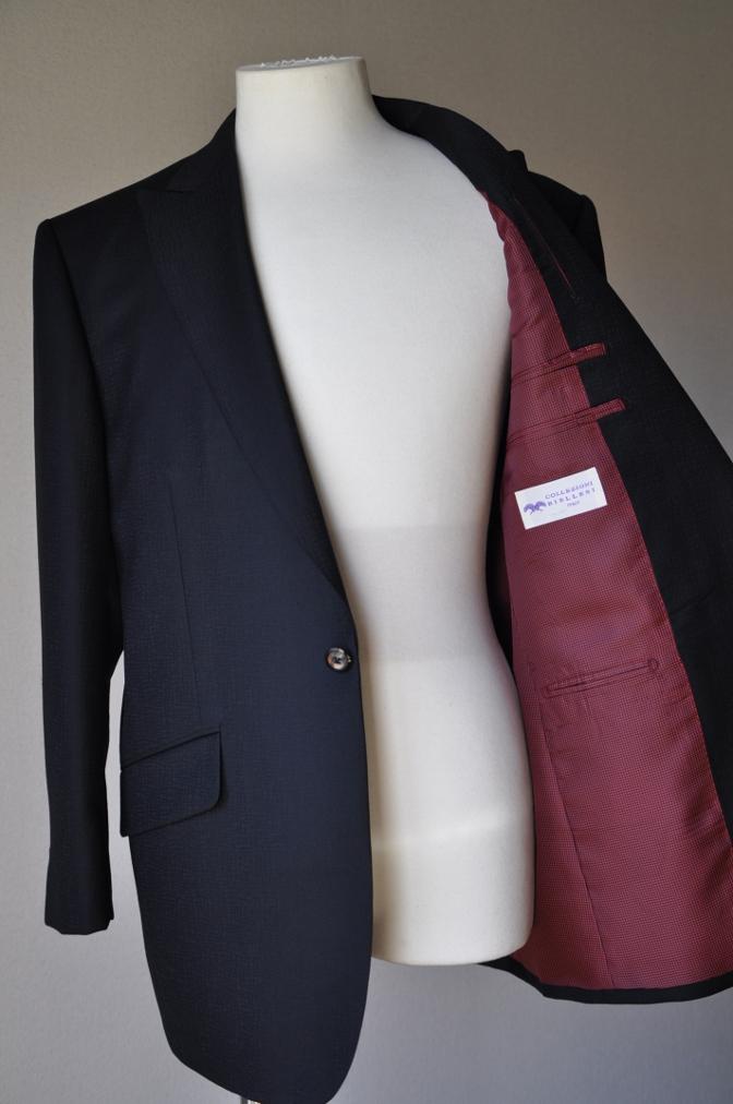 DSC3351 お客様のスーツの紹介-COLLEZIONI BIELLESI ブラック-