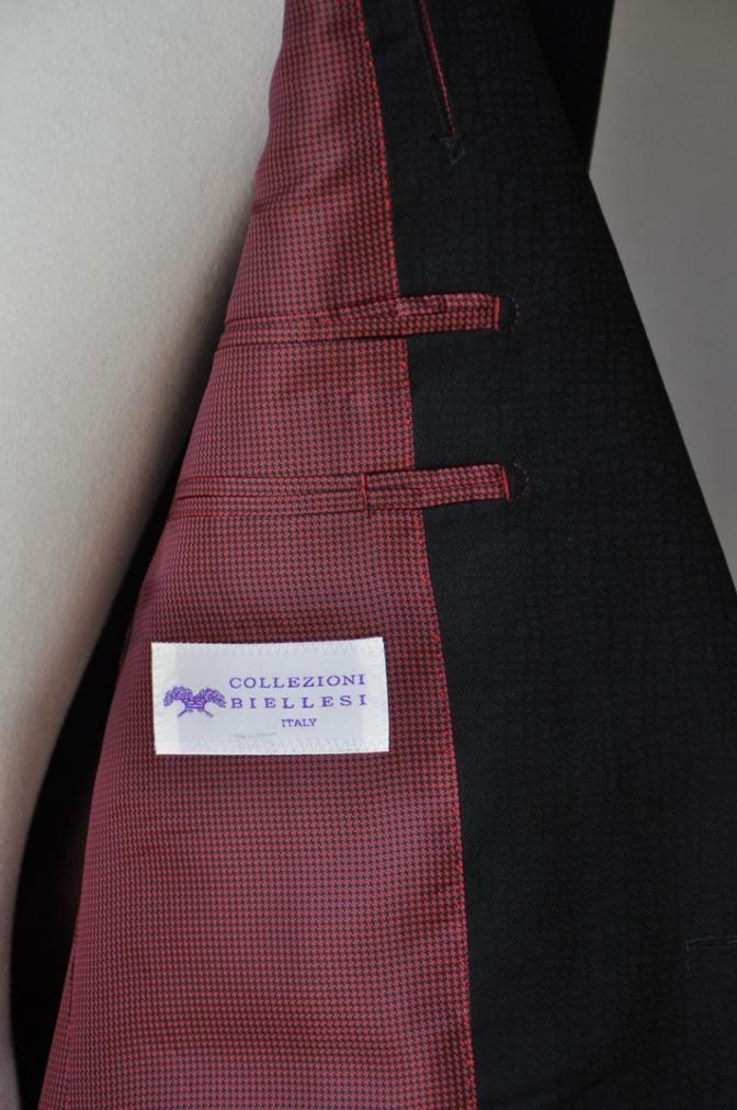 DSC3352 お客様のスーツの紹介-COLLEZIONI BIELLESI ブラック-