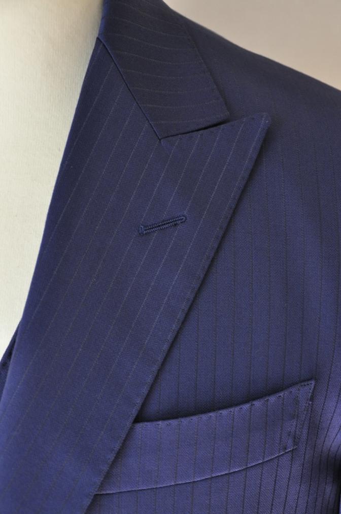 DSC33651 お客様のスーツの紹介-BIELLESI ネイビーストライプ スリーピース-