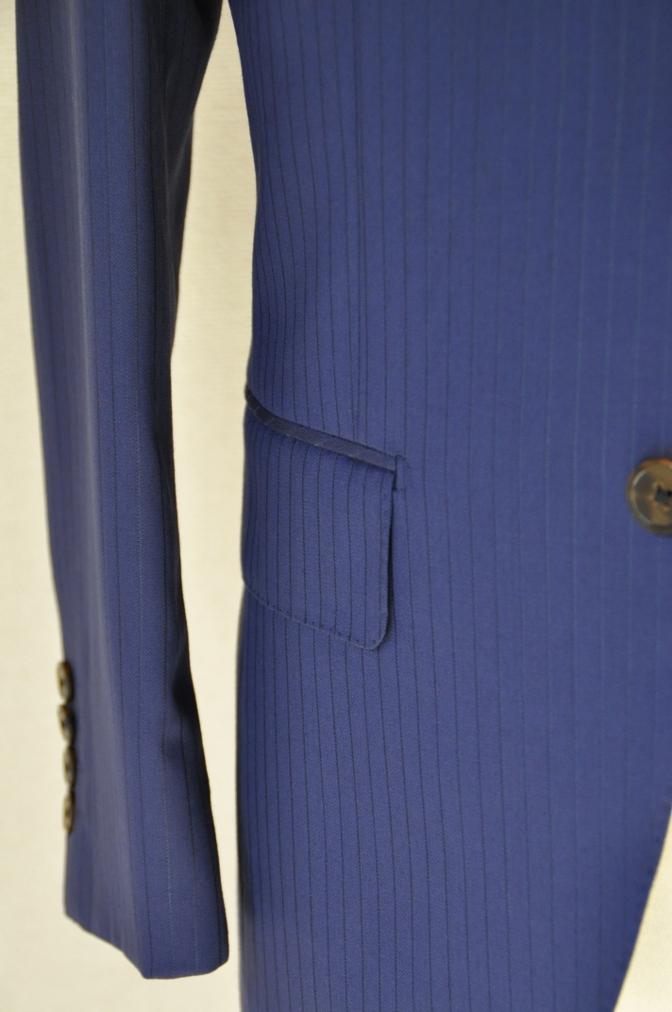 DSC3369 お客様のスーツの紹介-BIELLESI ネイビーストライプ スリーピース-