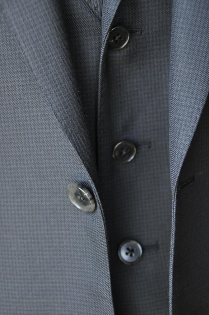 DSC3423 お客様のスーツの紹介-ネイビー千鳥格子 スリーピース-