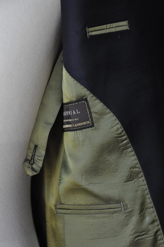 DSC3447 お客様のスーツの紹介-CANONICO ネイビ- ダブルスーツ-