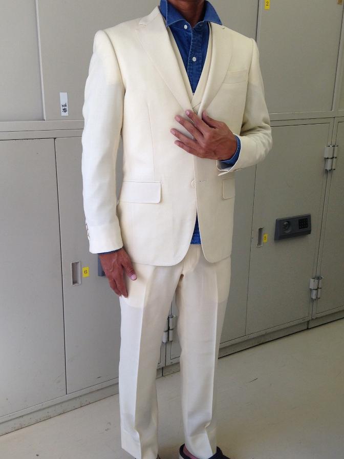 IMG_1591 オーダースーツ-ホワイトホップサックスリーピーススーツ-
