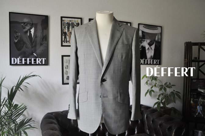 b611902df4ac199316c43b0054295362 お客様のスーツの紹介-DORMEUIL Tropical Amadeus グレー千鳥格子 - 名古屋の完全予約制オーダースーツ専門店DEFFERT