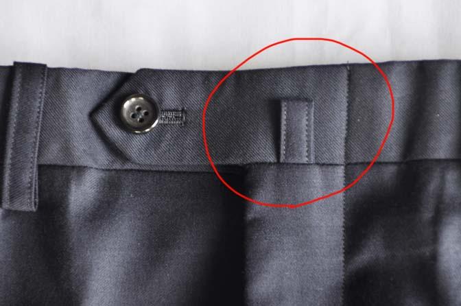 br スーツのパーツ名称「バックルループ」 名古屋の完全予約制オーダースーツ専門店DEFFERT