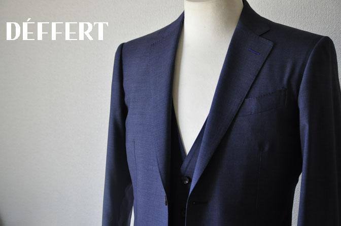 cc9510fb4e0446cc6ac9332c2f7db4c6 お客様のスーツの紹介-CANONICO 無地ネイビースリーピーススーツ -