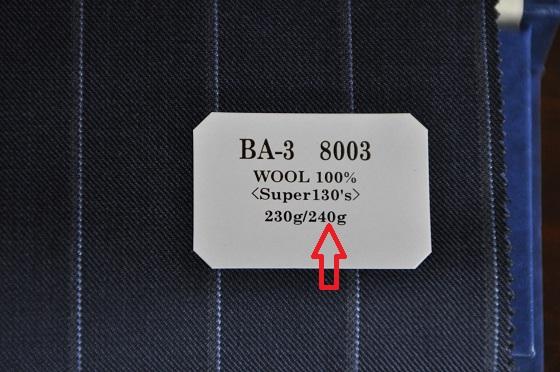 clothg 生地の重さの表記