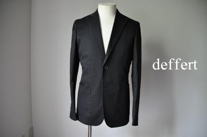 d14 お客様のスーツの紹介- 無地ブラックコットンストレッチスーツ-