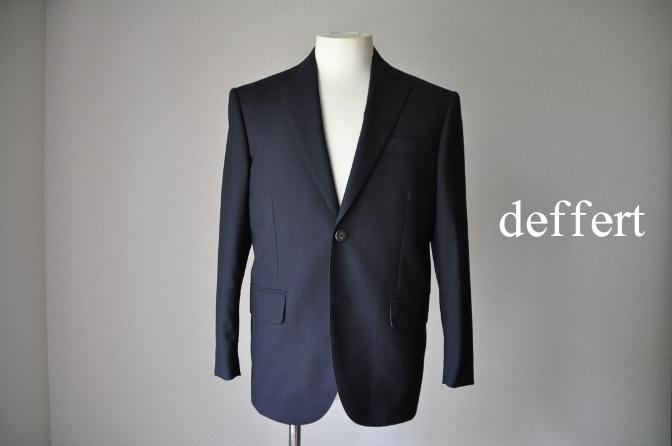 d16 お客様のスーツの紹介- BIELLESI ネイビーシャドウチェック-