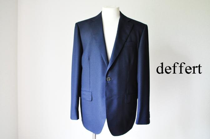 d17 お客様のスーツの紹介-CANONICO ネイビーホップサックジャケット-