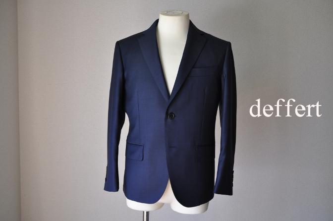 d20 お客様のスーツの紹介-CANONICO 無地ネイビースーツ-