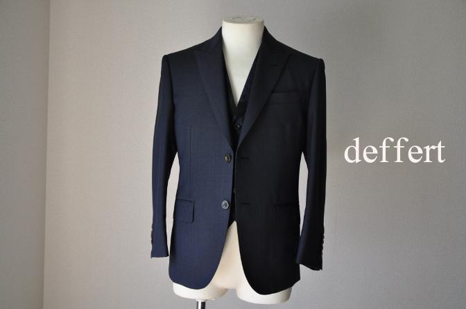 d21 お客様のウエディング用衣装の紹介-BIELLESIネイビーS上下+ペイズリーベスト-