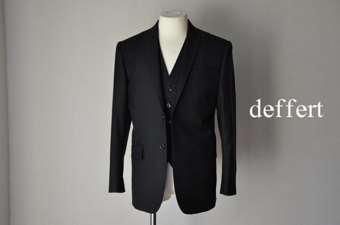 d25 お客様のスーツの紹介-CANONICO ブラックスリーピース- 名古屋の完全予約制オーダースーツ専門店DEFFERT