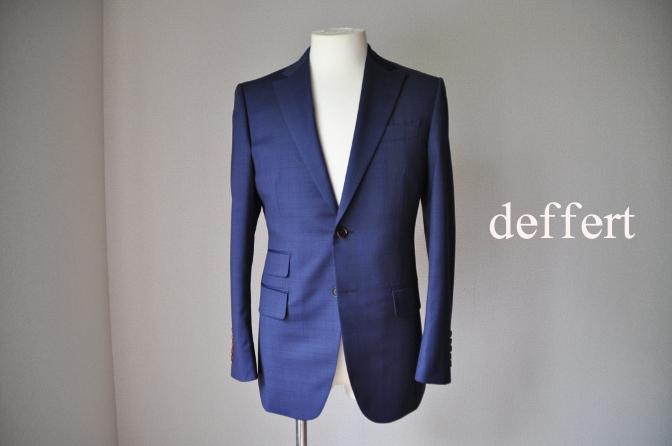 d29 お客様のスーツの紹介-BIELLESI ネイビーチェック-