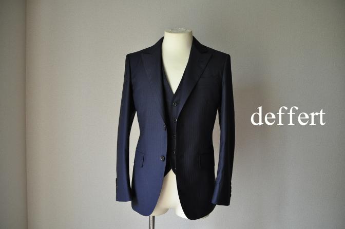 d33 お客様のスーツの紹介-BIELLESI ネイビーストライプスリーピース-