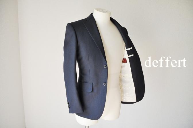 d35 お客様のスーツの紹介-BIELLESI ネイビーヘリンボーン-