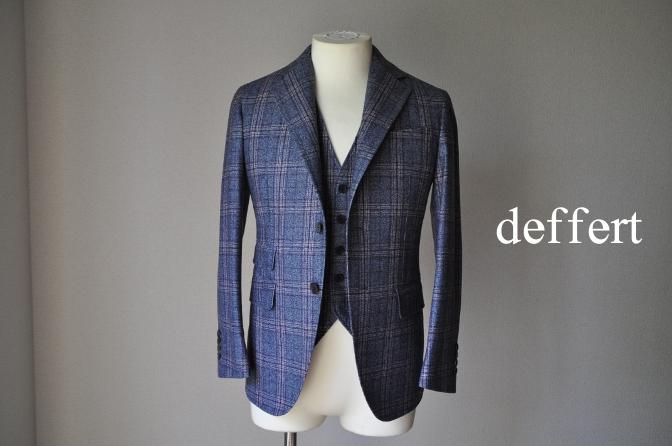 d36 お客様のジャケット・ベストの紹介-TALLIA DI DELFINOチェックフランネル-