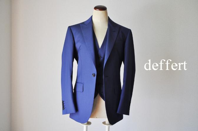 d41 お客様のウエディング衣装の紹介-BIELLESI無地ネイビースリーピース-